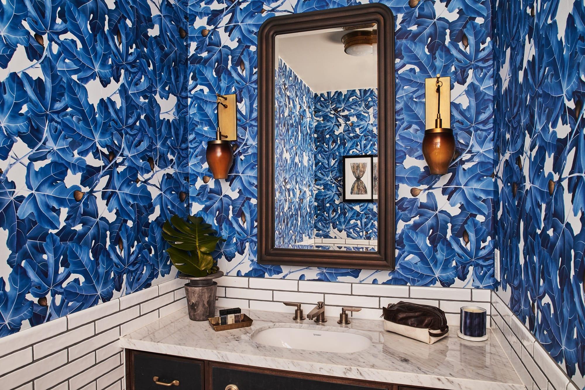 hotel bathroom sink and mirror