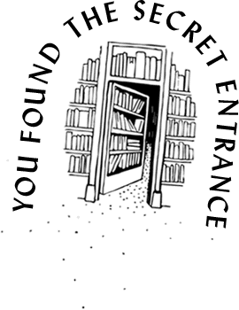 library secret entrance illustration