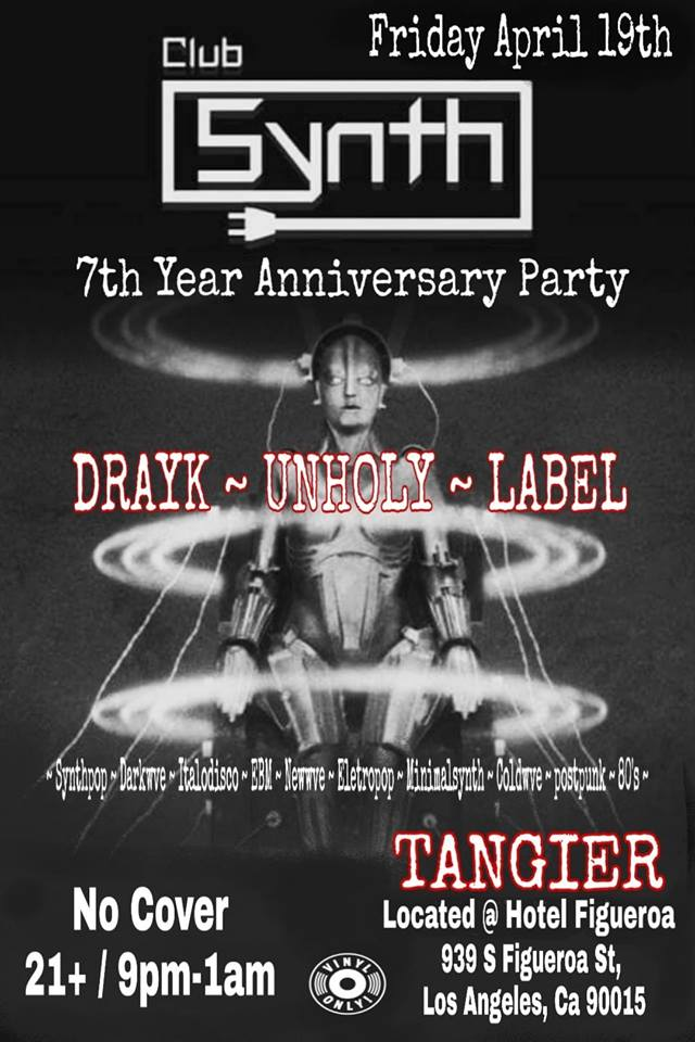 CLUB SYNTH 7 Year Anniversary Party